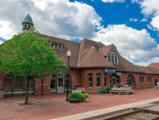 Exterior photo of the Kalamazoo Train Station