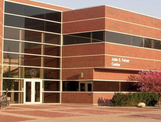Exterior photo of the Fetzer Center